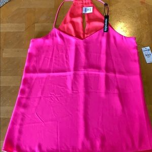 Express Tops - Pink reversible racerback cami NWT. Never worn.
